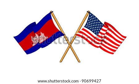 America and Cambodia alliance and friendship