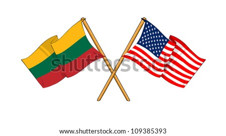 America and Lithuania alliance and friendship