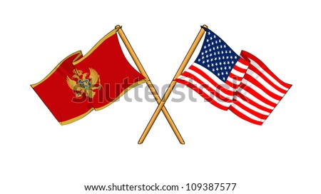 America and Montenegro alliance and friendship