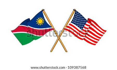 America and Namibia alliance and friendship