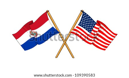 America and Paraguay alliance and friendship