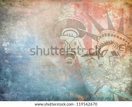 America background, grunge illustration - stock photo