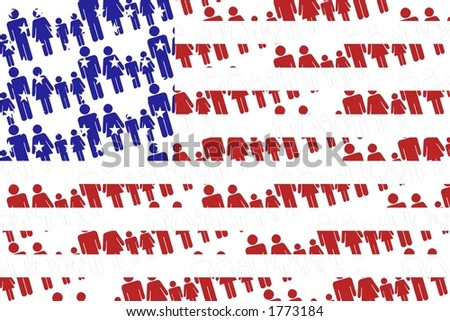 America flag. - stock photo