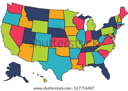 America Flag In U S A Map The United States Of America Usa Commonly