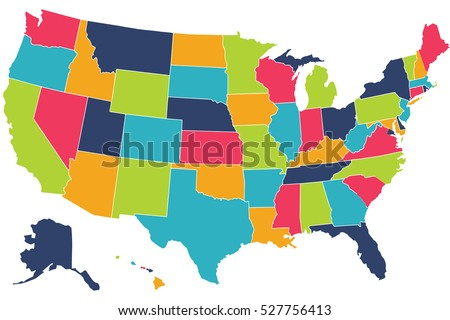 States Stock Images RoyaltyFree Images Vectors Shutterstock - Us map of 50 states