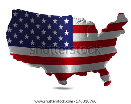 Design American Flag Map Stock Vector Shutterstock - Us flag map