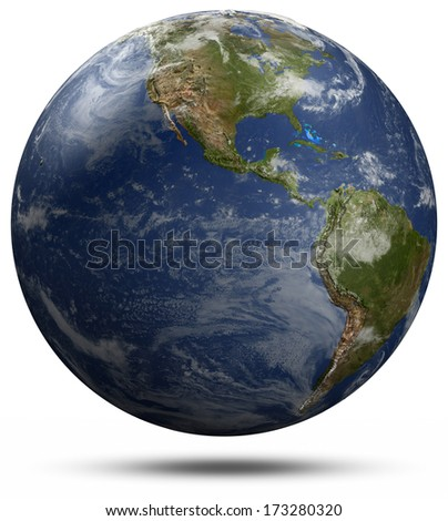 America globe. Elements of this image furnished by NASA - stock photo