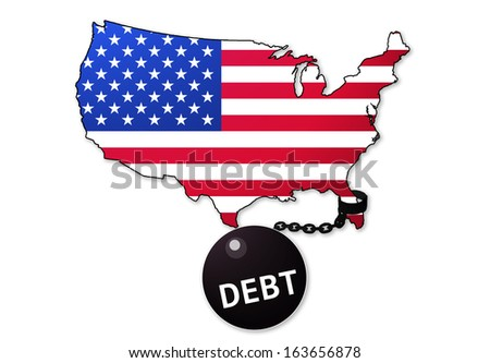 America is a Debt Prisoner - stock photo