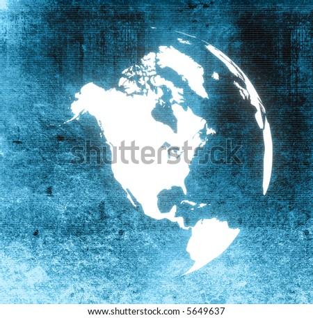 America map - stock photo