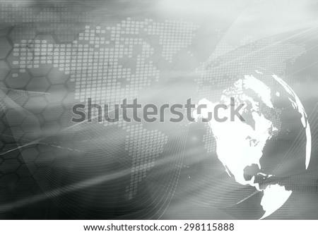 America map technology style artwork for your design - stock photo