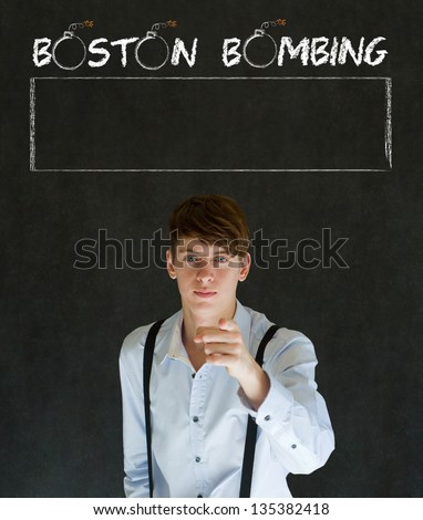 America needs you for the Boston Bombing patriotic politician, businessman or teacher point or pointing at you - stock photo
