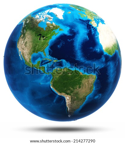 America real mountains relief. Elements of this image furnished by NASA - stock photo