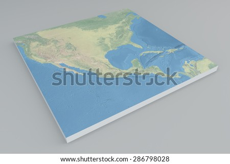 America, Usa satellite view, split, 3d, map. Element of this image are furnished by Nasa