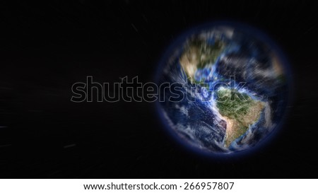 America Zoom in From Space  (Elements of this image furnished by NASA)