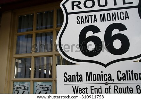 American America Santa-Monica  mother road Route 66 National highway historic road