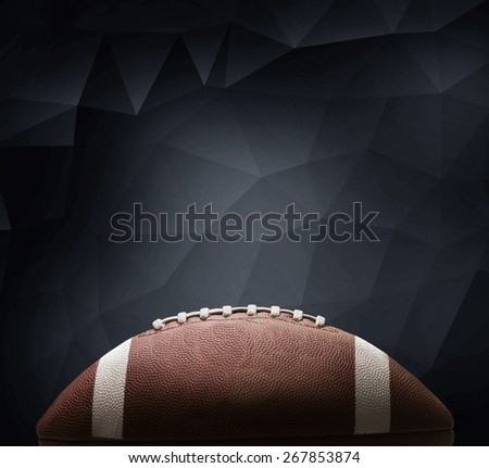American. An American football and a hand drawn chalkboard play. - stock photo
