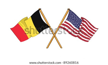 American and Belgian alliance and friendship