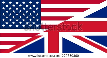 American and British English language icon - isolated illustration useful for websites