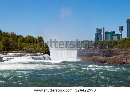 American and Canadian Water Falls