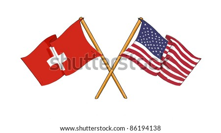 American and swiss alliance and friendship
