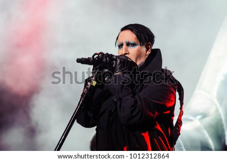 American band Marilyn Manson performing at Metaldays Festival on July 24th, 2018 in Tolmin, Slovenia
