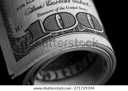 American, banking, benjamin. - stock photo