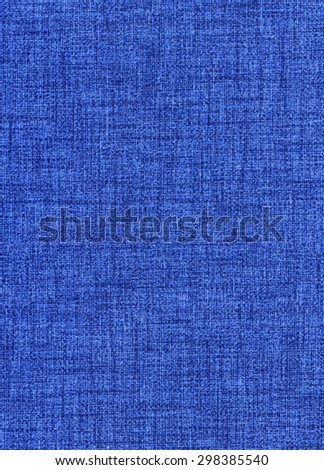 American blue jeans fabric sample isolated - stock photo