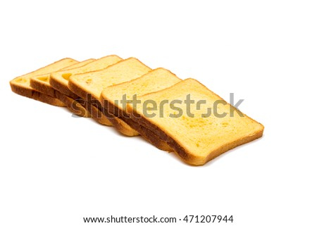 American bread for a sandwich on a white background