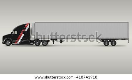 American Cargo Truck - stock photo