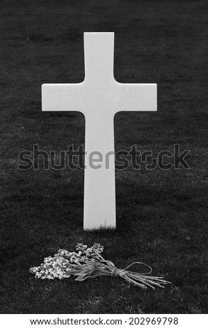 American Cemetery (Florence), unknown grave - stock photo