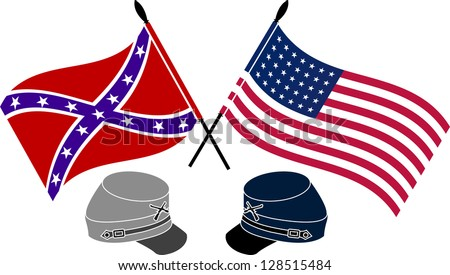 American Civil War. stencil. first variant. raster variant - stock photo