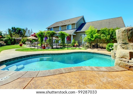 Luxury House Pool house pool stock images, royalty-free images & vectors | shutterstock