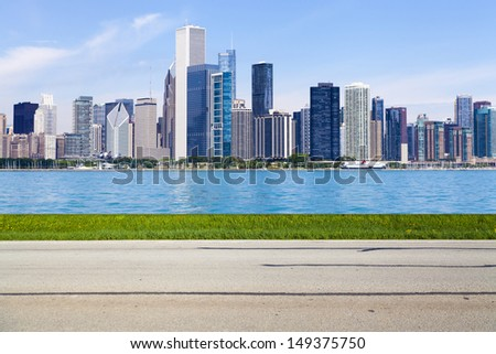 American Country Road Side View (Abstract)  - stock photo