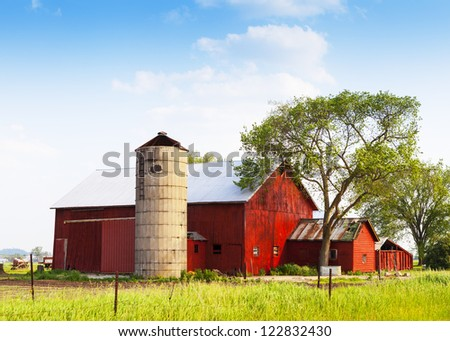 American Countryside in Summer Time - stock photo