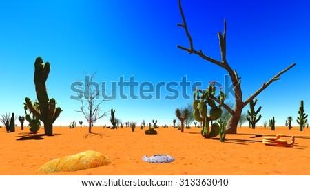American desert - stock photo