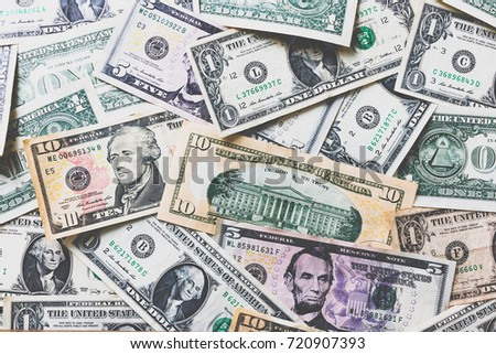 American dollar or US dollar banknote background