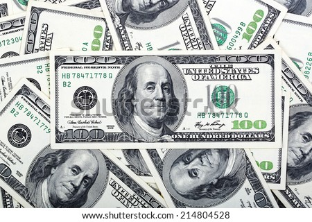 American dollars, a background - stock photo