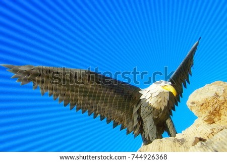eagle standing stock images royaltyfree images  vectors