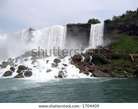 "American Falls at Niagara - View from ""Maid of the Mist"""