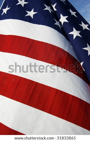 american flag abstract - stock photo