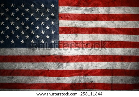 American flag and texture composite - stock photo