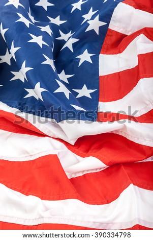 American flag as a backdrop. - stock photo