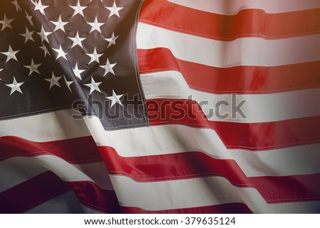 American flag background - stock photo