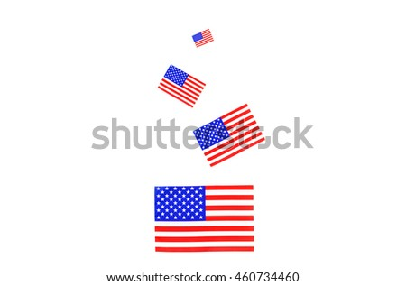American flag background isolated