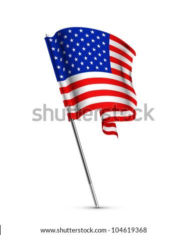 American flag, bitmap copy - stock photo