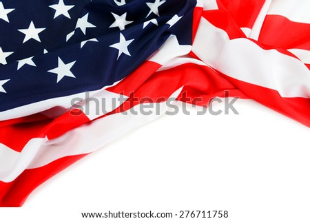 American flag close-up - stock photo