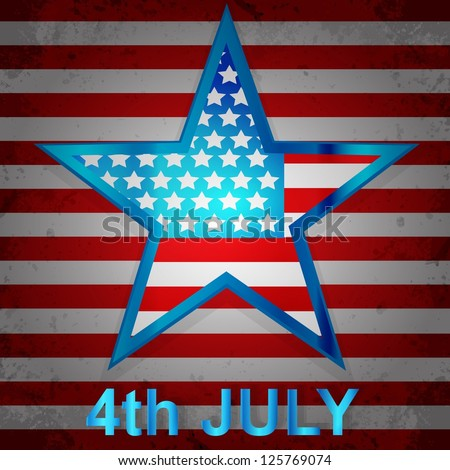 American Flag for Independence Day. - stock photo