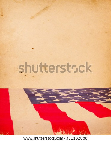 American flag. Grunge background - stock photo
