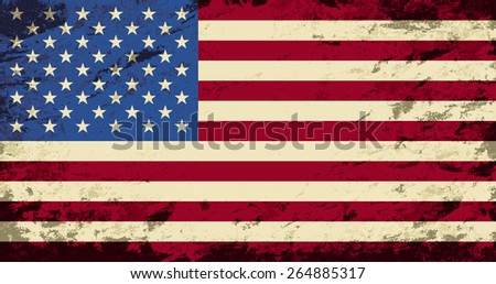 American flag Grunge background. Raster version