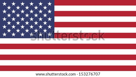 American flag of the United States of America - Proportions: 1.9:1 - Colors: White, Old Glory Red, Old Glory Blue